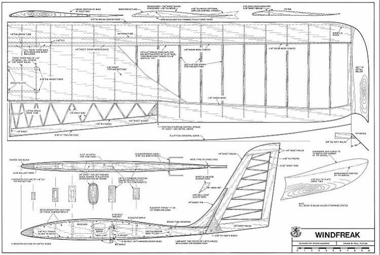 Windfreak-RCM-11-78 model airplane plan