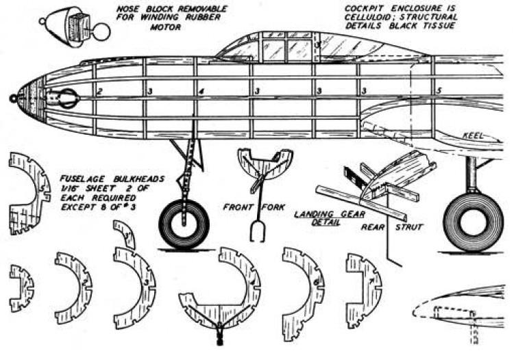 xp-54-p1 model airplane plan