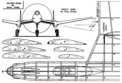 xp-54-p2 model airplane plan