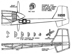 xp-54-p3 model airplane plan
