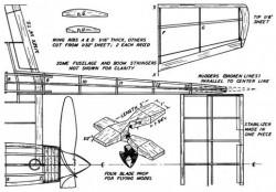 xp-54-p4 model airplane plan