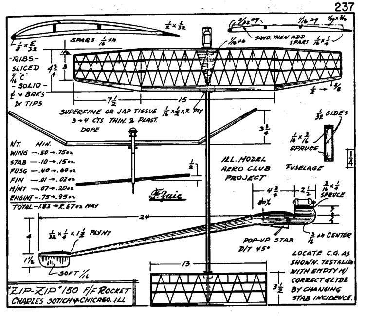 zaic59 61zipzip model airplane plan