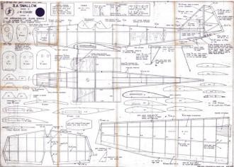 B.A. Swallow model airplane plan
