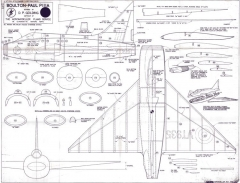 Boulton-Paul PIIIA model airplane plan