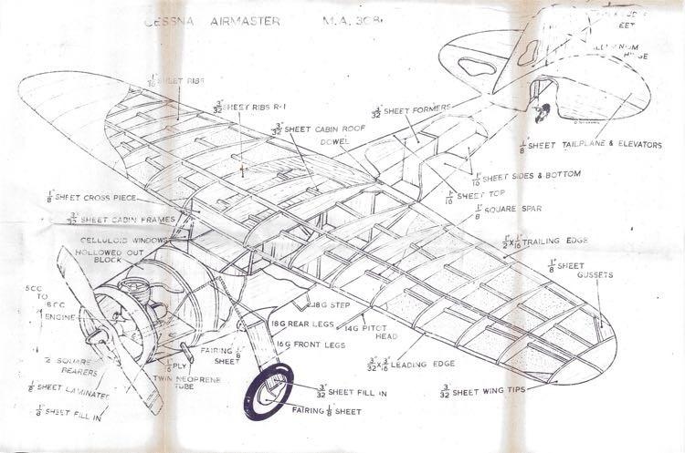 Cassna Airmaster 3d View model airplane plan