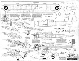 Curtiss A-12 Shrike model airplane plan