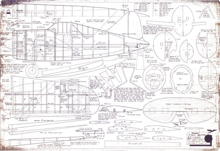 F2A-1 Bufalo model airplane plan