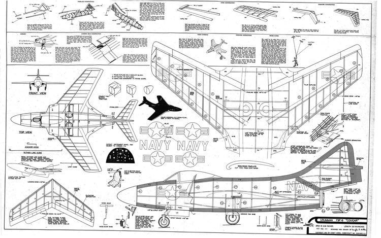 F9F-6 Cougar model airplane plan
