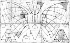 Leonardo Flying Aparatus model airplane plan