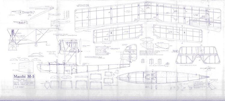 Machi M-5 model airplane plan