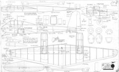 Messerschmitt ME-210 model airplane plan