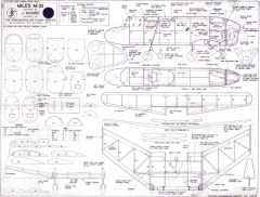 Miles M-35 model airplane plan