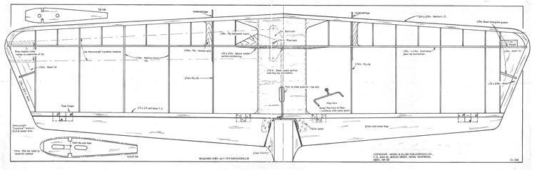 Mirabilis Wing model airplane plan