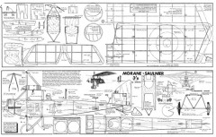 Morane-Saulnier model airplane plan
