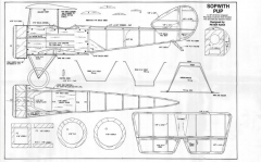 Sopwith Pup Fuselage model airplane plan