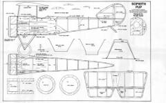 Sopwith Pup Fuselage model airplane plan