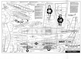 T-2 J-1 model airplane plan
