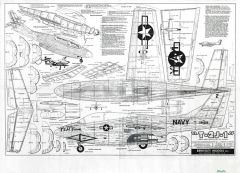 T-2 J-1 II model airplane plan