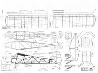 Taylorcraft Auster MK III model airplane plan