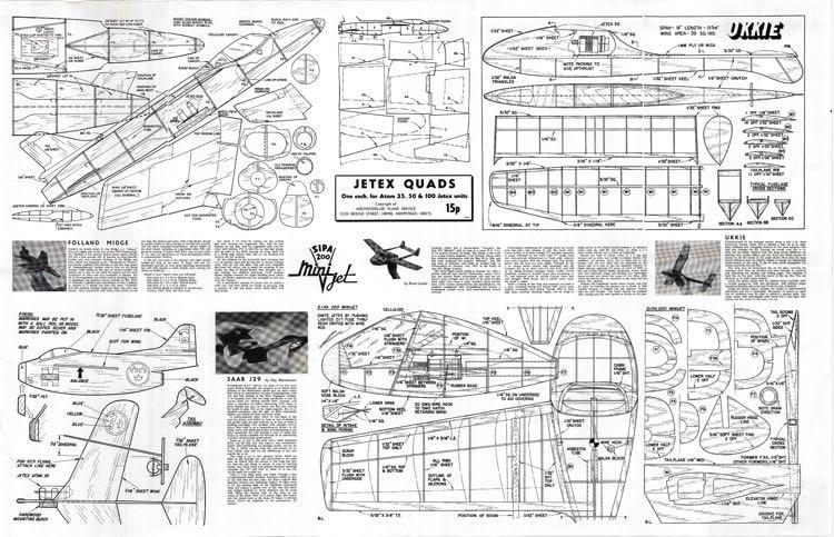 Ukkie - Jetex model airplane plan
