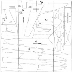 RCPowers F-18 V3 model airplane plan