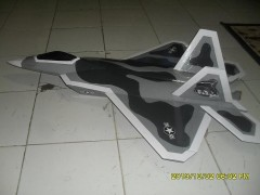 F/A-22 RAPTOR model airplane plan