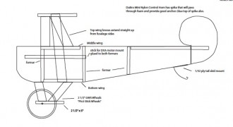 Triplane model airplane plan