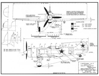 Lavochkin La-7 by David Andersen model airplane plan