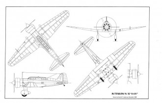 Mitsubishi Babs by David Andersen model airplane plan