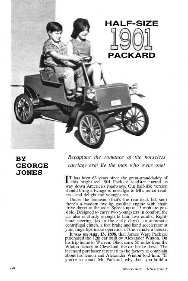 1901 packard model airplane plan