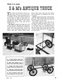 1901 truck model airplane plan