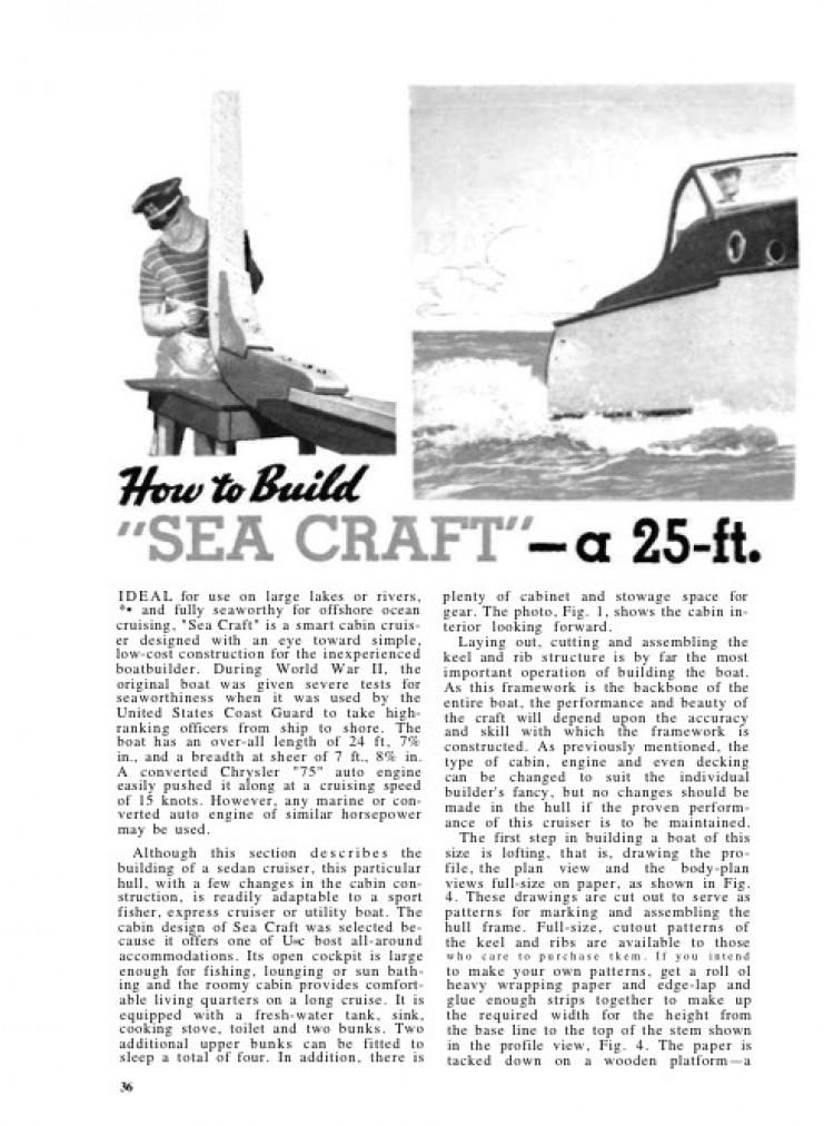 25-foot-cabin model airplane plan