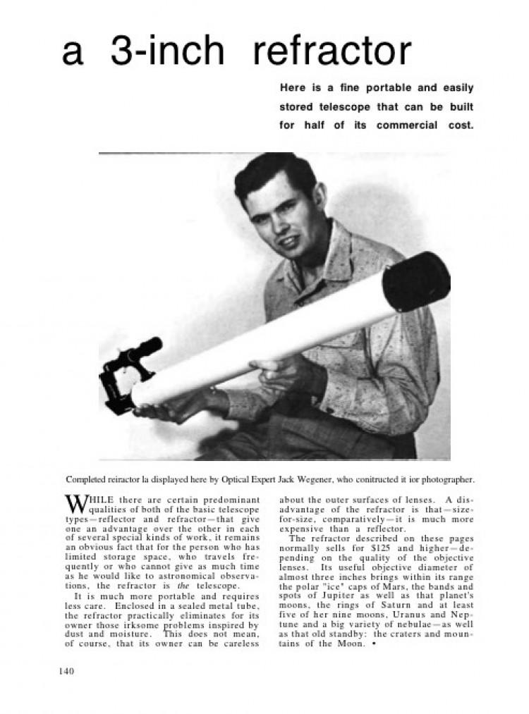 3-inch-refractor model airplane plan
