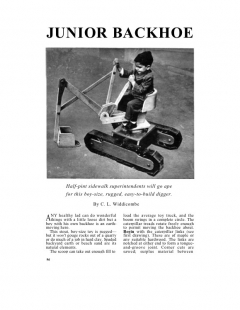 backhoe-2 model airplane plan