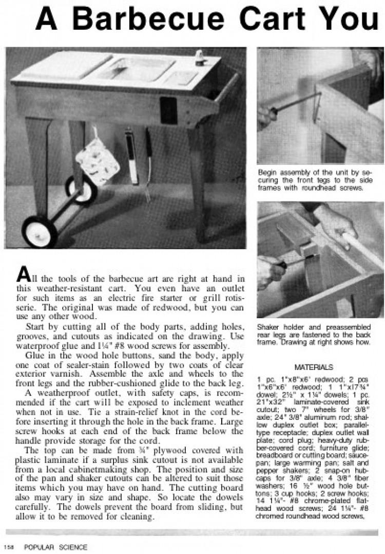 bbqcart model airplane plan