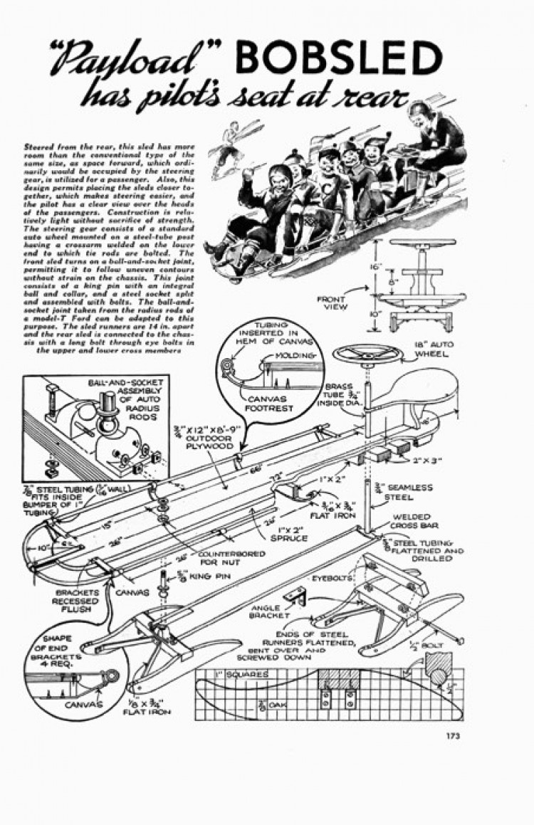 bobsled model airplane plan