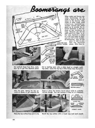boomerangs model airplane plan
