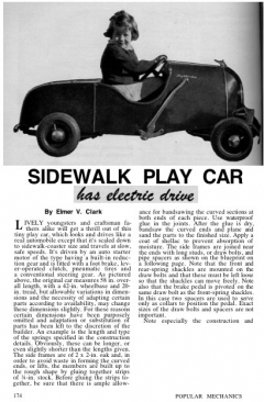 car-elect-sidewalk model airplane plan