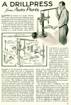 drill-press-auto model airplane plan