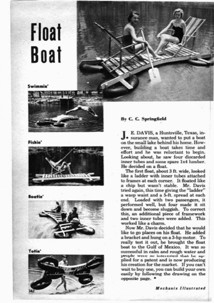 float-boat model airplane plan