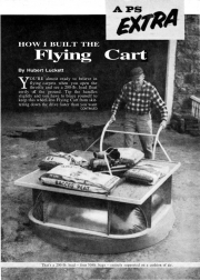flying cart model airplane plan