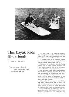 foldingkayak model airplane plan