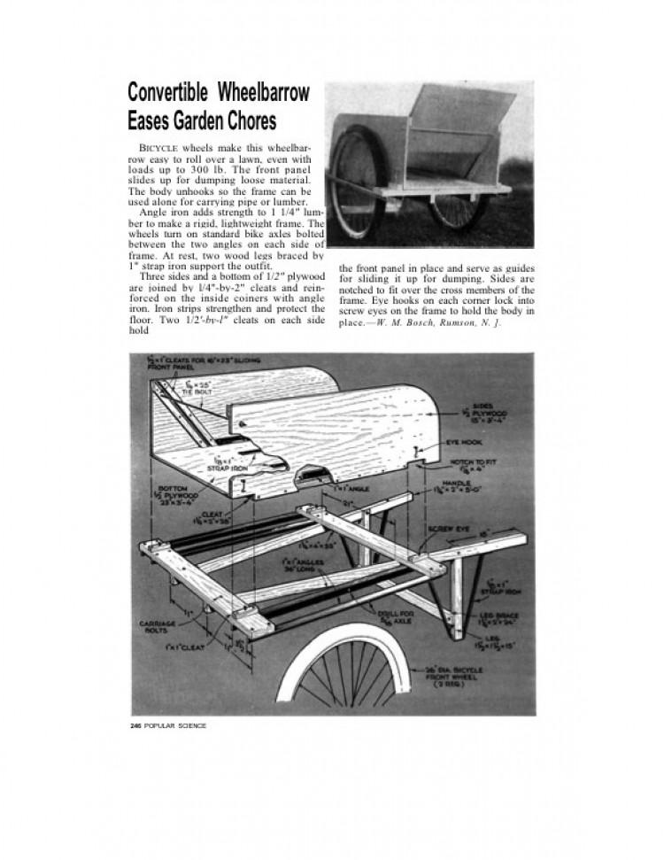 garden-cart model airplane plan