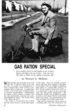 gas-ration-scooter model airplane plan