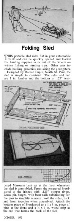 hauling-sled-folding model airplane plan