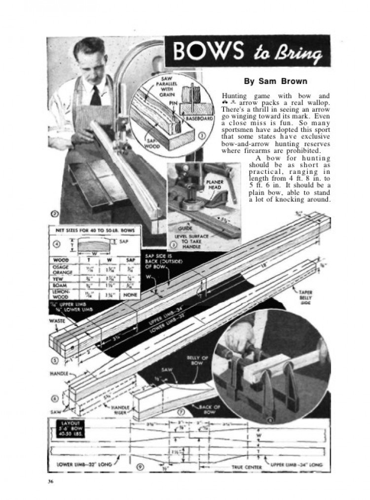 hunting-bow model airplane plan