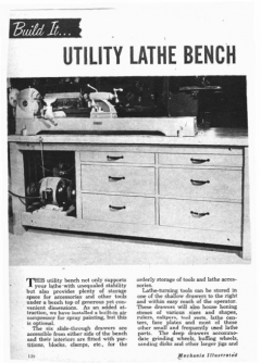 lathe-bench model airplane plan