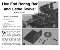 live end lathe bar model airplane plan