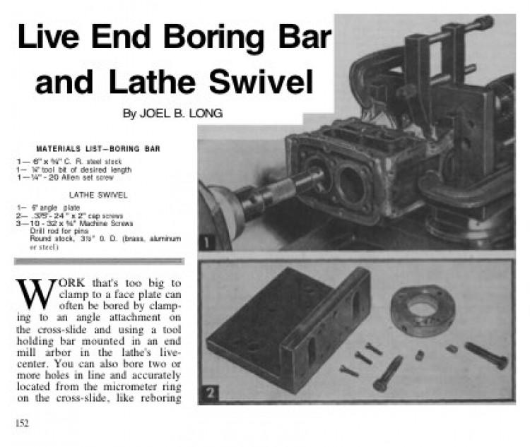 live end lathe bar model airplane plan