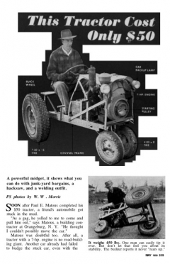 midget-tractor model airplane plan